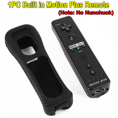 Built in Motion Plus Remote Nunchuck Controller + Case for Nintendo Wii / Wii U… 5
