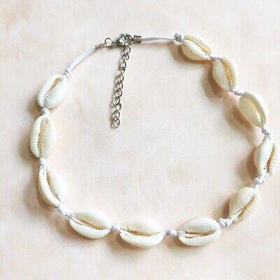 Boho Bohemian Sea Shell Beaded Pendant Chain Choker Necklace Women Beach Jewelry 4