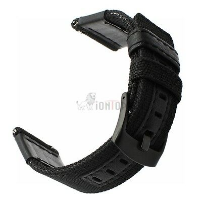 20mm 22mm Nylon Fabric Sport Watch Band Replacement Quick Release Wrist Strap 12