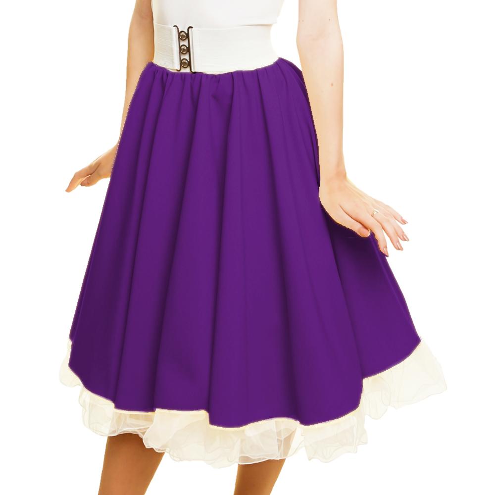GIRLS SANDY SKIRT Plain 1950s Costume Circle Skirt Rock and Roll GREASE COSTUME 10