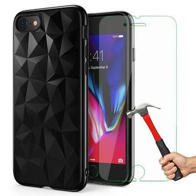Antichoc Cristal Coque iPhone 8 7 6s 6 Plus XR XS Max 11 Pro+ Vitre Verre trempé 2