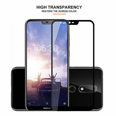 5D Full Coverage Tempered Glass Screen Protector For Nokia 3.1 5 X6 6.1 7 Plus 8 8