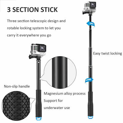 """36"""" Waterproof Extension Pole Selfie Stick for GoPro Hero/Session 6 5 4 3+ 3 2 1 3"""
