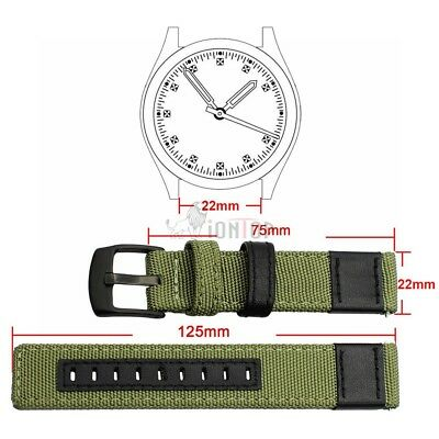 20mm 22mm Nylon Fabric Sport Watch Band Replacement Quick Release Wrist Strap 6