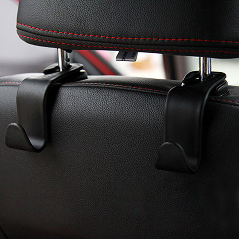 1x Black Car Seat Hook Purse bag Hanger Bag Organizer Holder Clip Accessories 6