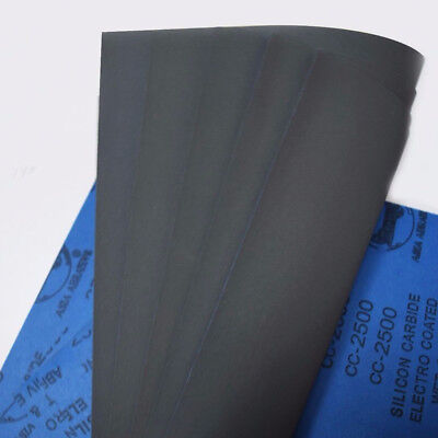 1Sheet 80-2000 Grits Wet/dry Sandpaper Polishing Silicon Carbide 9''x11'' Water 6