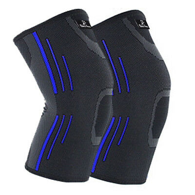 2X Knee Compression Sleeve for Arthritis Joint Pain Relief Workout Sport Braces 10