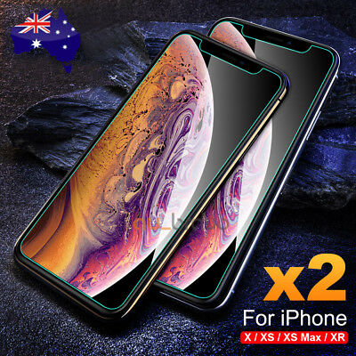 Tempered Glass Screen Protector For Apple iPhone X XS Max XR 8 7 6 6S Plus 5S SE 2