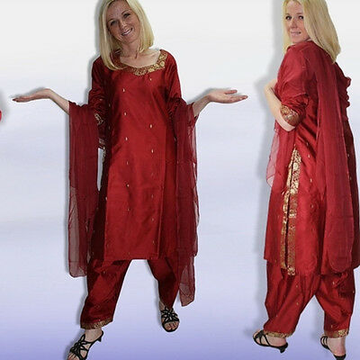 Salwar elegante Kameez+Sciarpa,G.42,INDIA,sari di Bollywood 4R4 2