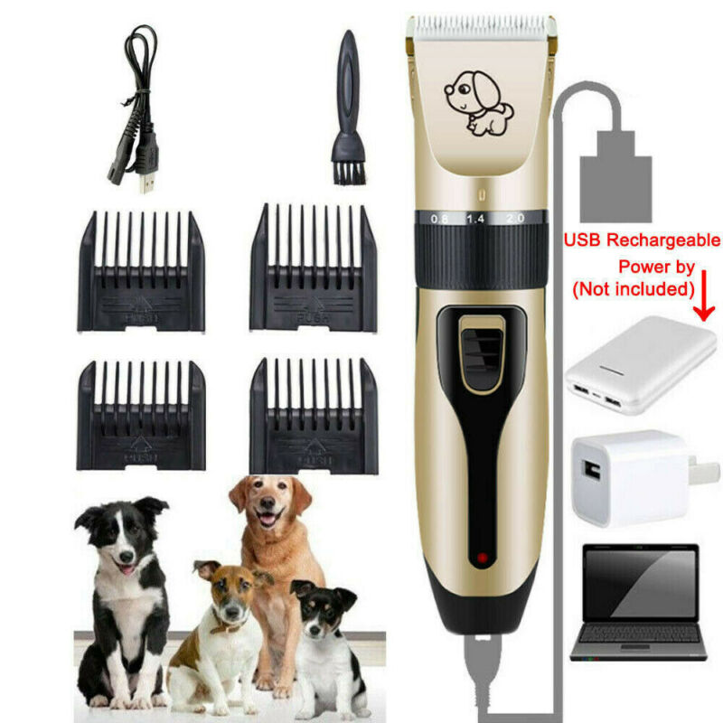 Rechargeable Cat Dog Clipper Cordless Pet Clippers Hair Shaver Grooming Trimmer 2