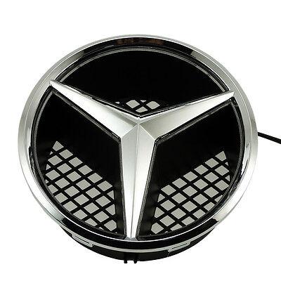 Illuminé LED lumière Emblème Logo Grille LED Badge Avant pour Mercedes Benz NEUF 3