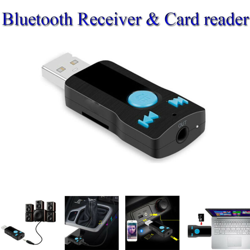 1pc USB Bluetooth Wireless Audio Music Stereo Adapter Dongle Receiver for TV PC 7
