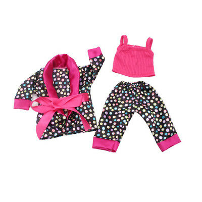 5PCS /Set Clothes Shoes for 18'' American Girl Our Generation Dolls Pajamas UK 8