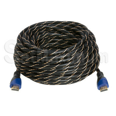 HDMI HIGH SPEED CABLE PREMIUM 1.4 Mesh Wire BLURAY 3D DVD HDTV Gold Plated - LOT 6