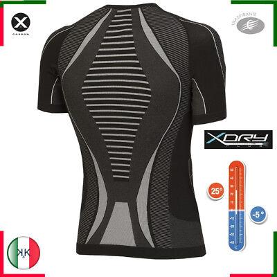 Maglia tecnica moto maglietta termica running uomo traspirante girocollo xtech 2