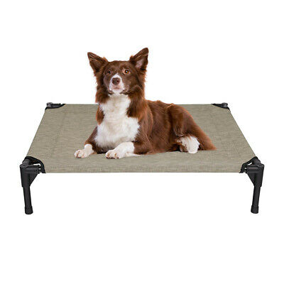 VEEHOO Elevated Dog Cat Bed Pet Cot Raised Lounger Hammock for Indoor & Outdoor 7