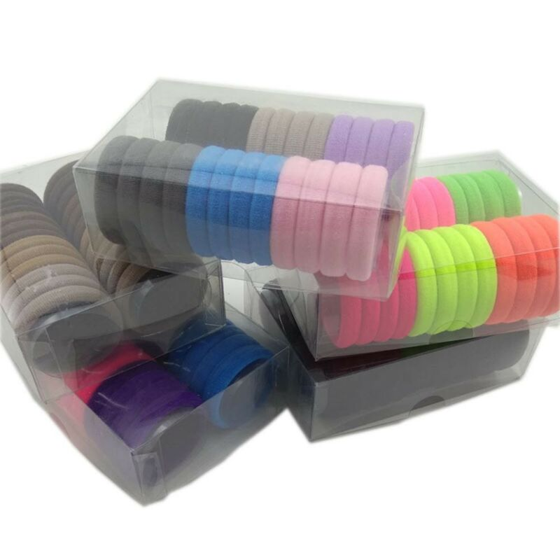24Pcs Stretch Hair Ties Bands Rope Ponytail Holders Thick Heavy Hair Headband 3