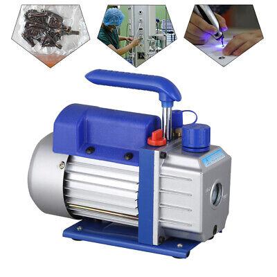 Single Stage Vacuum Pump Rotary Vane 2.5CFM 1/4HP Deep HVAC AC Air Tool Blue New 2