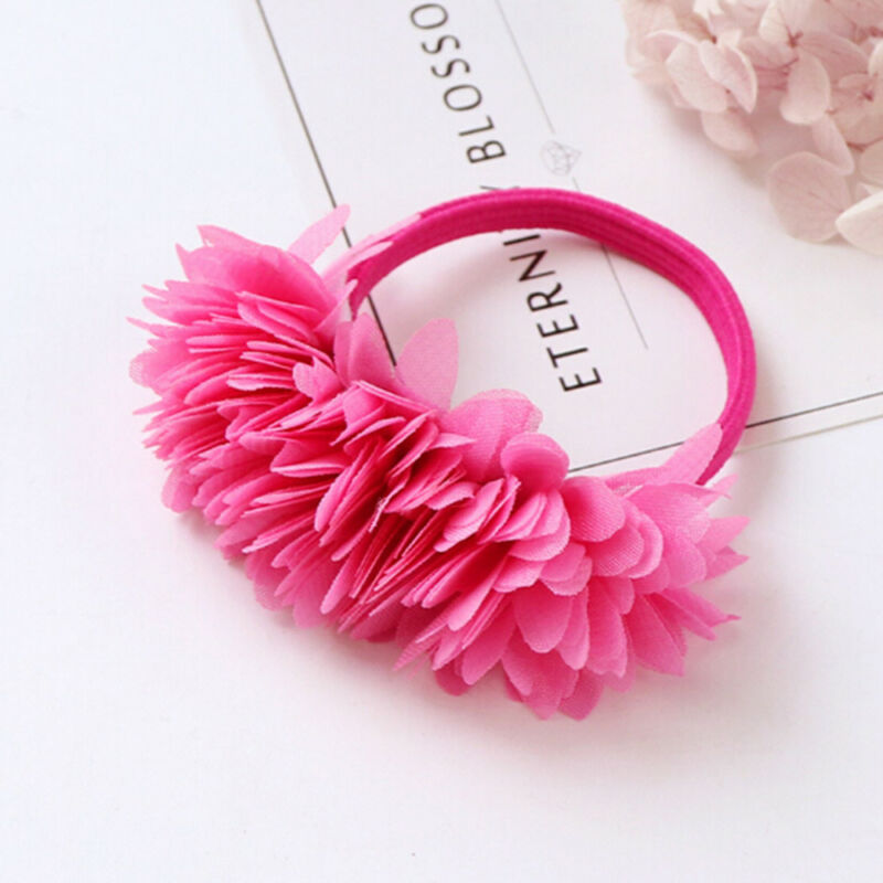 Multi-layer Flower Elastic Hair Bands Hair Clips Girls Kids Hair Accessories 9
