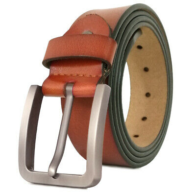 """Mens Belt Genuine Leather Belts For Dress & Jeans Big & Tall Wasit Size 28""""-64"""" 3"""