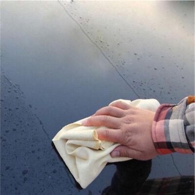 pelle di Daino Naturale Auto Panni per pulizia lavaggio scamosciata ASSORBENTE 7