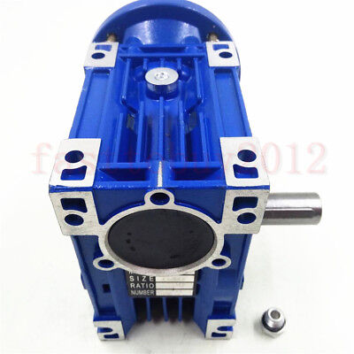 56B14 Worm Gearbox NMR030 Speed Reducer Reduction Ratio 10:1 9mm Motor Shaft 5