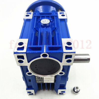 80B14 Worm Gearbox Speed Reducer 10 15 25 30 50 60 80 100:1 for Stepper Motor 10