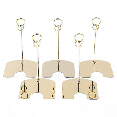 30PCS Metal Wire Card Clip Wedding Table Stand Note Memo Photo Holder Home Decor 3