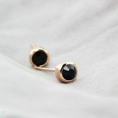 Stunning 18K Rose Gold GF 5MM SWAROVSKI Lab Diamond Stud Earrings Lovely Gift 11