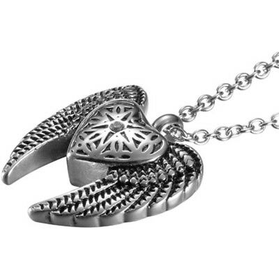 Angel Heart & Wings Cremation Jewelry Ashes Keepsake Memorial Urn Necklace NEW 3
