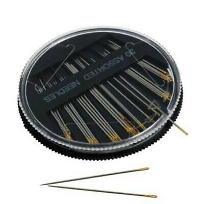 Assorted Hand Sewing NEEDLES - Embroidery Mending Craft Quilt Case Sew 30pcs Kj 2