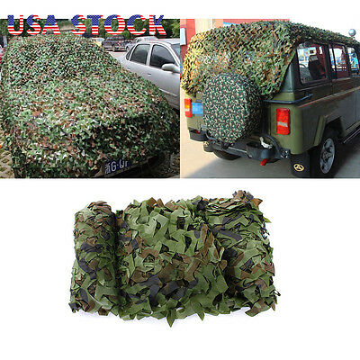 Woodland Camouflage Netting Military Army Camo Hunting Shooting Hide Cover Net 6