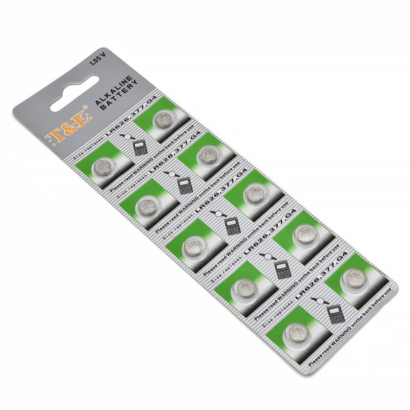 10 x AG4 377A 377 LR626 SR626SW SR66 LR66 376 Alkaline Button Cell Watch Battery
