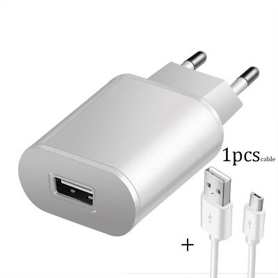 5V 2A EU Dual USB 2-Port Fast Charger Mobile Phone Wall Power Adapter For iPhone 8