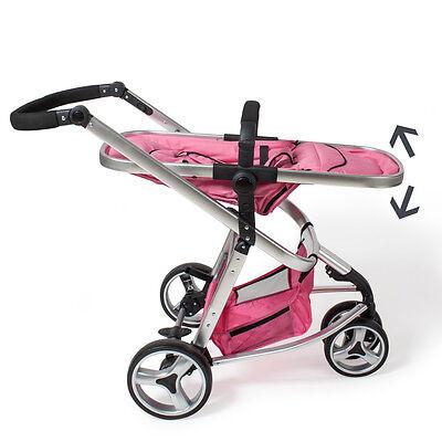 SILLA PASEO Cochecito de bebé Carrito para salir Sillita de viaje Cochecito rosa 4