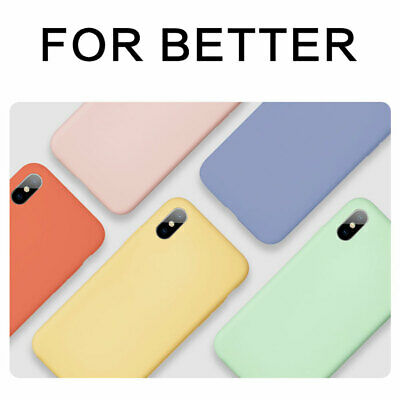 Liquid Silicone Case for iPhone 11 Pro 6 7 8Plus/XS Max XR X Hybrid Rubber Cover 8