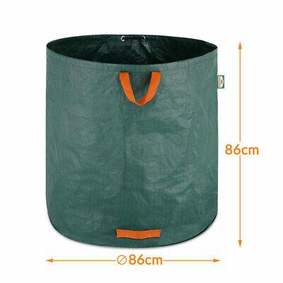 4x Sacs de jardin 500L 50 kg sac de déchets ordures tissu renforcé pliable 4