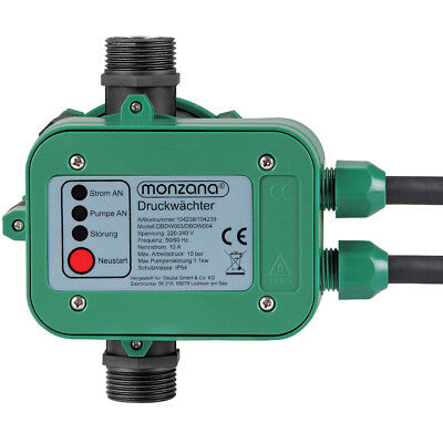 Contrôleur de pression pour pompe - Pressostat 10 bar avec câble Monzana 2