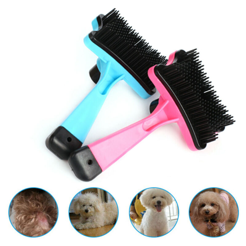 Pet Brush Dog Cat Puppy Hair Grooming Shedding Tool Comb Trimmer Bath Massage 2