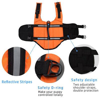 Pet Swimming Safety Vest Dog Life Jacket Reflective Stripe Preserver Puppy US 5