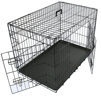 Dog Cage Pet Puppy Crate Carrier Home Folding Door Training Kennel S M L XL XXL 5