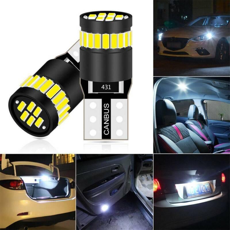 2X T10 501 194 W5W SMD 24 LED Car CANBUS Error Free Wedge Light Bulb White 11