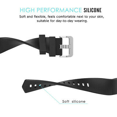 Fitbit Charge 2 Bands Replacement Silicone Metal Wristband Watch Strap Sports AU 5