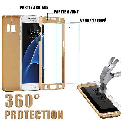 Etui Coque Housse + Film Verre Trempe Protection Integrale 360° Pour Samsung 9