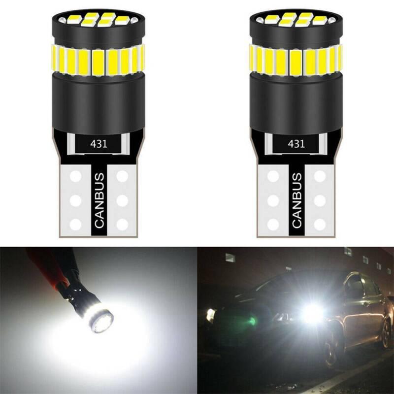 2X T10 501 194 W5W SMD 24 LED Car CANBUS Error Free Wedge Light Bulb White 12