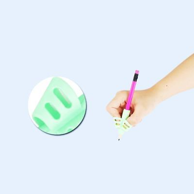 3x Two-finger Grip Silicone Baby Pencil Holder Learn Writing Tools Writing Pen 8