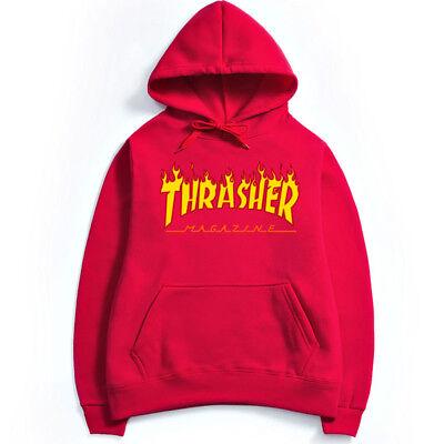 Hommes Femmes Hip-Hop À Capuche Coton De Base Skateboard Thrasher Sweatshirts 5