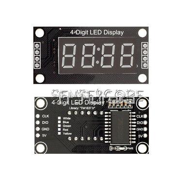 "White 0.56"" TM1637 4-Bits Digital  LED Anzeige Clock Tube  Display For Arduino"