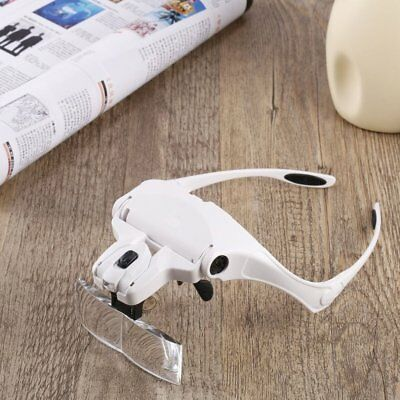 Lightweight  Magnifier Head Light  2 LED Adjustable Magnifying Glass with 5 Lens 11