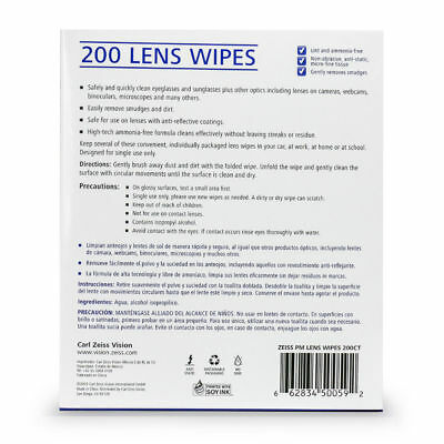 200CT ZEISS Lens Cleaning Wipes Eye Glasses Screen Optical Camera Phone Cleaner 2